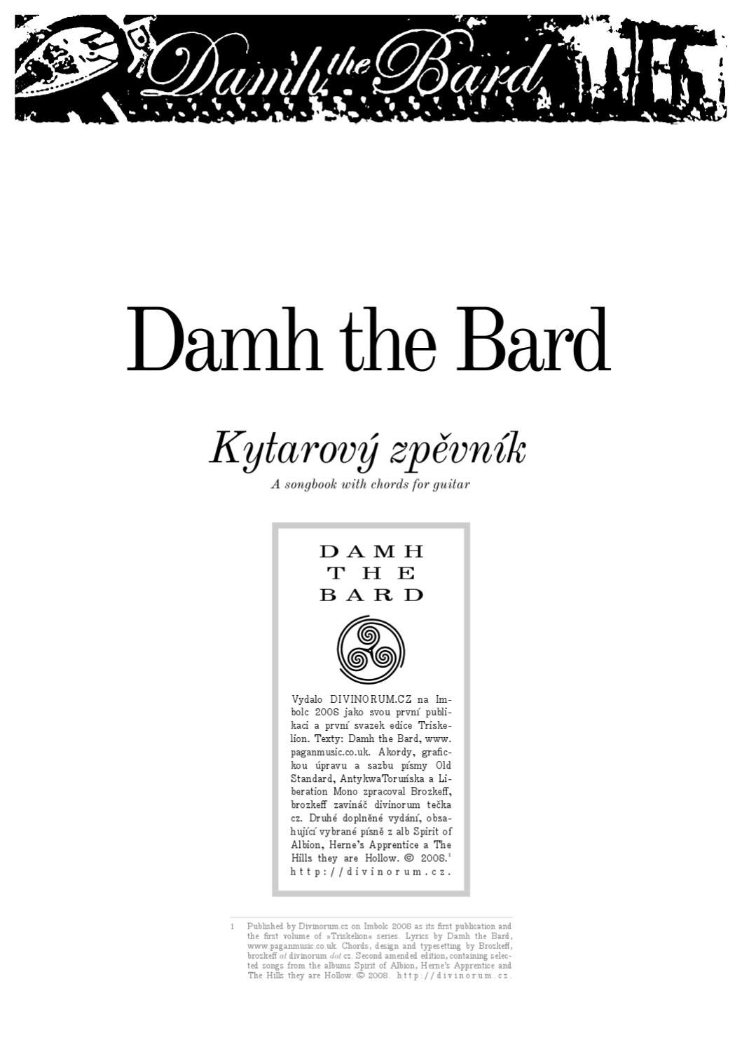 Damh the bard songbook by martin malec issuu hexwebz Images