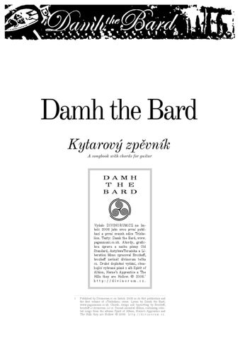 Damh The Bard - Songbook by Martin Malec - issuu