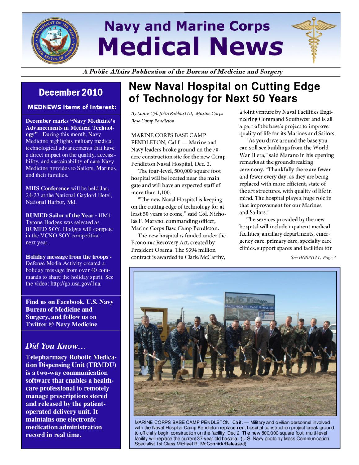 Navy-Marine Corps Medical News (December 2010) by Navy