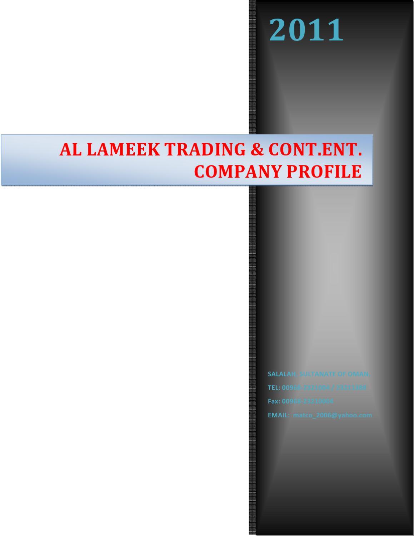 Al Lameek Trading & Cont Co by shibin babu - issuu