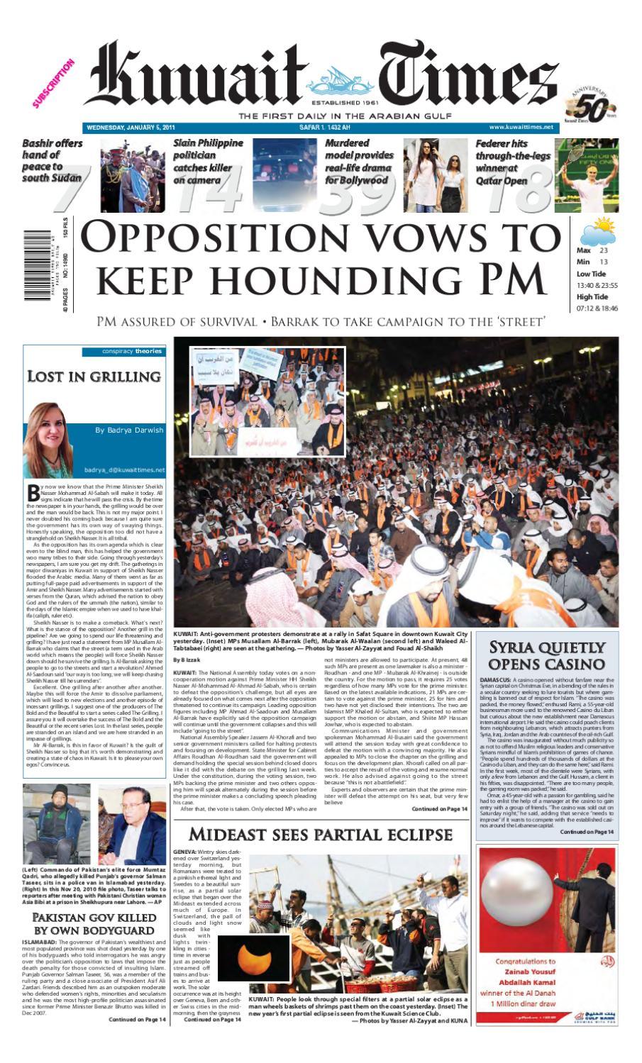 5 Jan By Kuwait Times Issuu