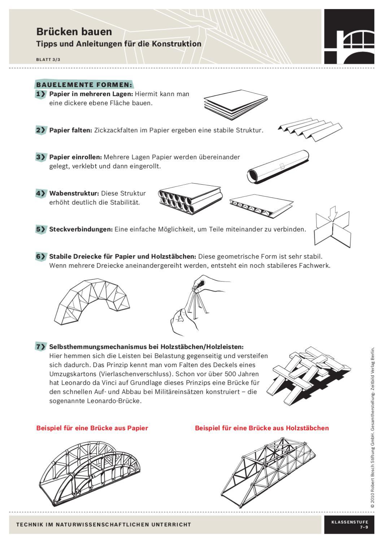 Technik im naturwissenschaftlichen unterricht by zeitbild for Stabile dreiecke