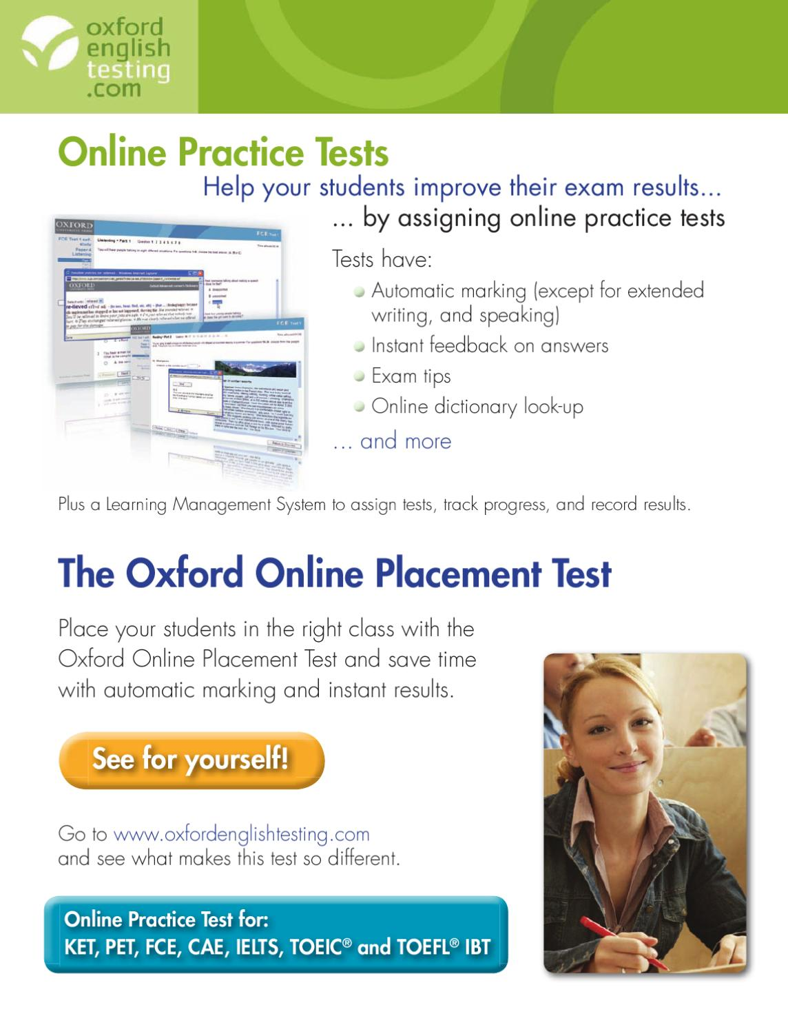 Testing Online Practice Test by Oxford University Press España - issuu
