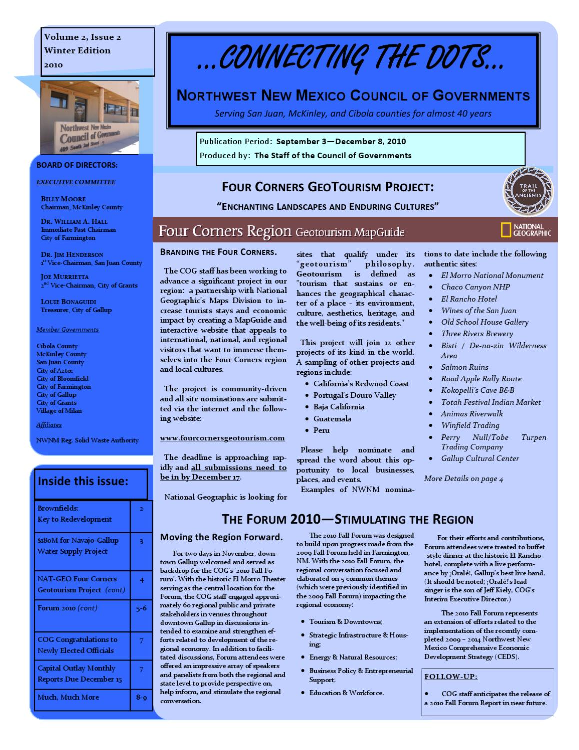 9ed5cedbd41af3 Connecting the Dots - Dec 2010 by Northwest New Mexico Council of ...