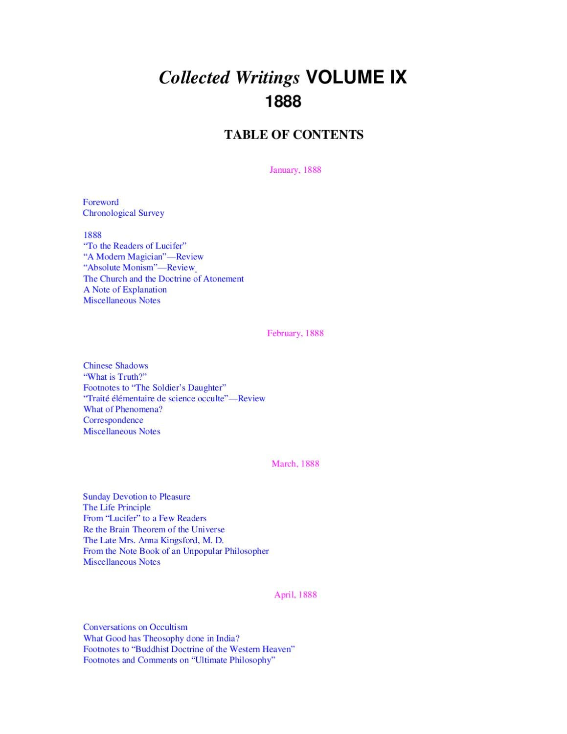 Collected Writings Volume IX (1888) by group24 - issuu 1c933b58f65