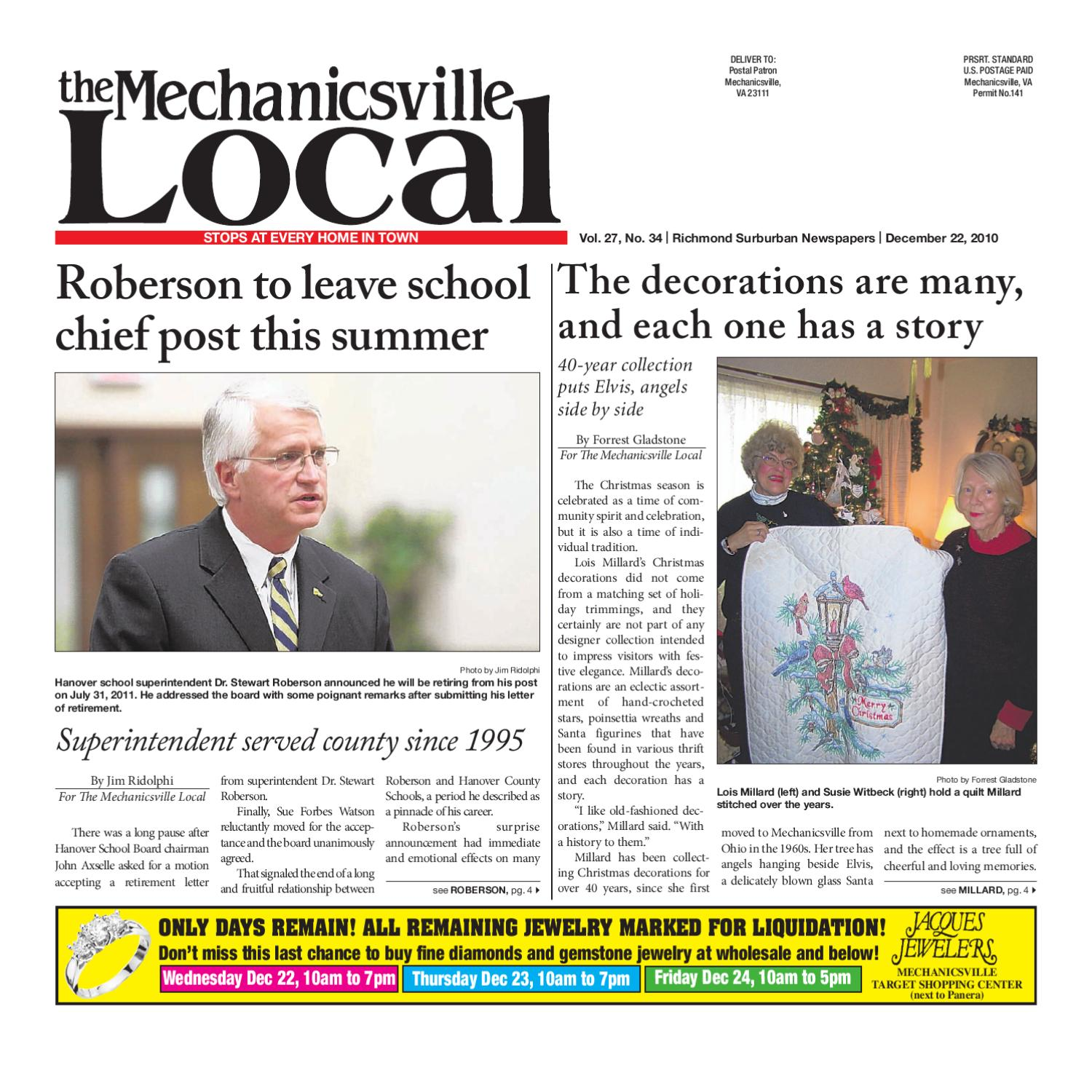 12/22/2010 by The Mechanicsville Local - issuu
