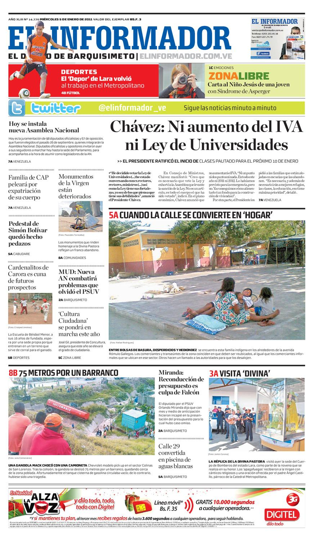 358e797a El Informador impreso 2011.01.05 by El Informador - Diario online  Venezolano - issuu