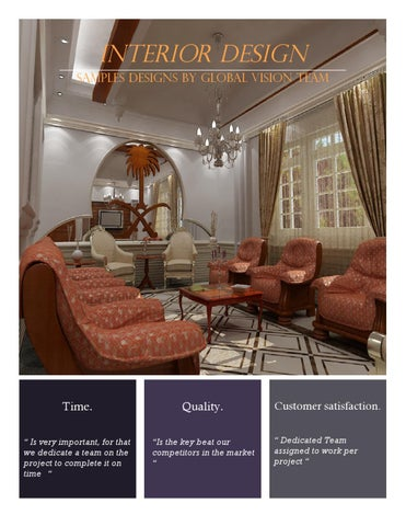 Interior Design Samples Designs By Global Vision Team