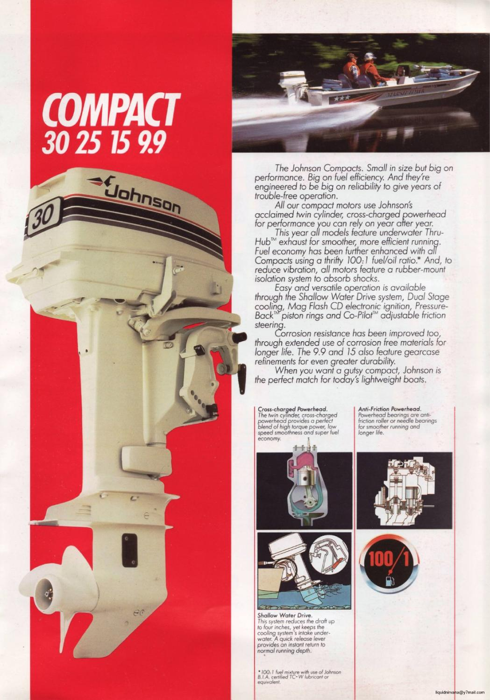 1985 - JOHNSON Outboard Sales Brochure (Australia)