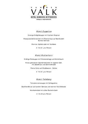menu van der valk
