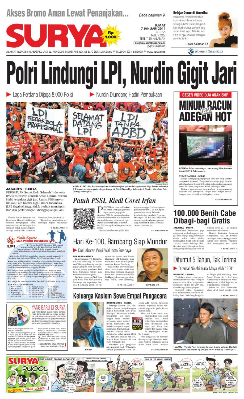 Surya Edisi Cetak 07 Januari 2011 By Harian Issuu Kemeja Anak Tangan Panjang Kotak Orange Variasi 78 Rsby 2854