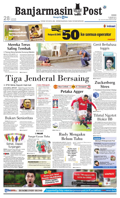 Banjarmasin Post Edisi Senin 10 Januari 2011 by Banjarmasin Post ...