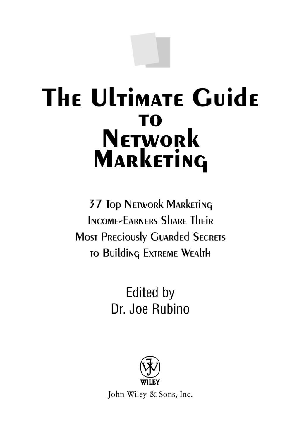 The Ultimate Guide To Network Marketing By Brian Williams Issuu Prestige Car Alarm Wiring Diagram