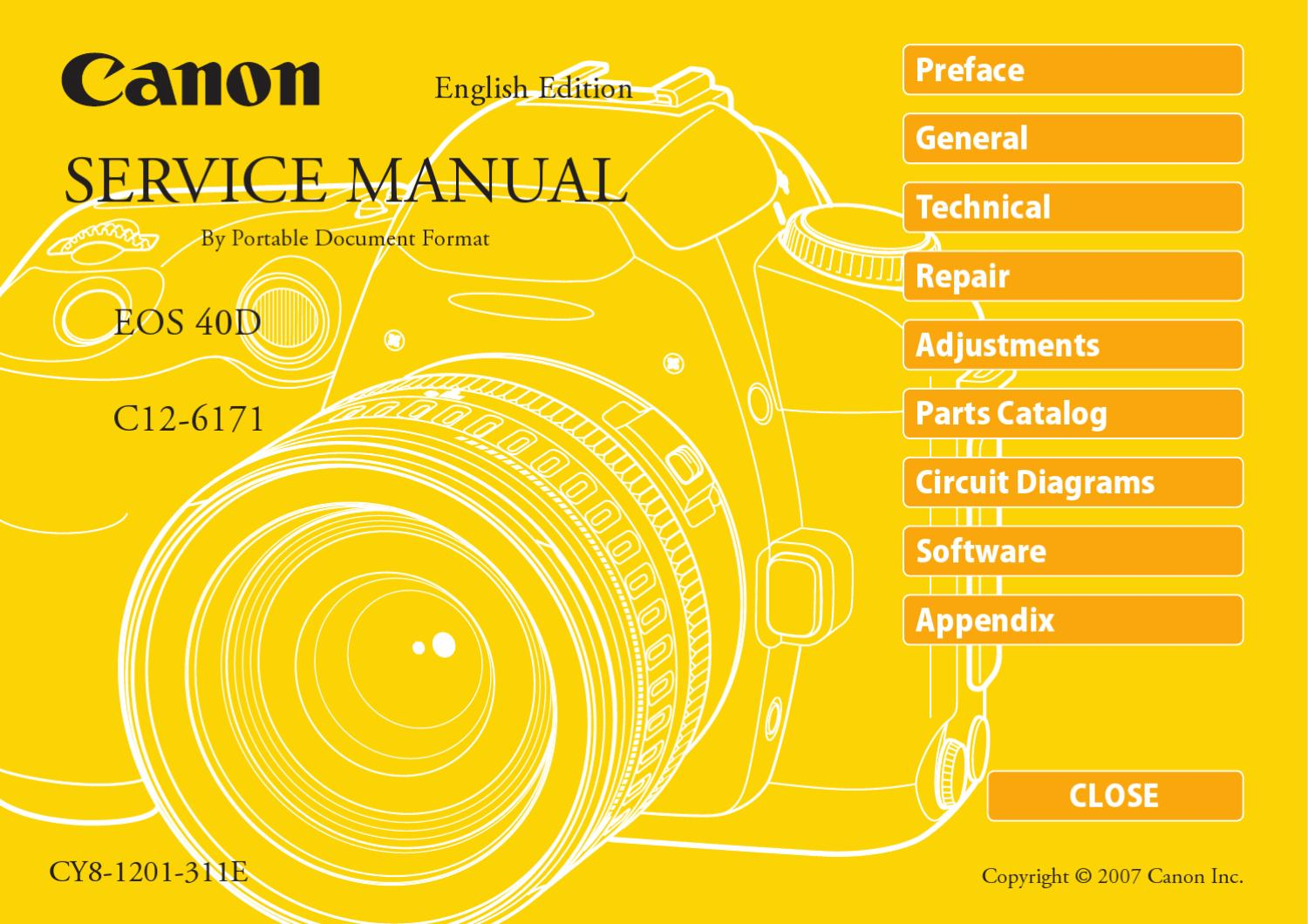 Canon Eos 40D Service Manual Repair Guide by Anh Tran   issuu