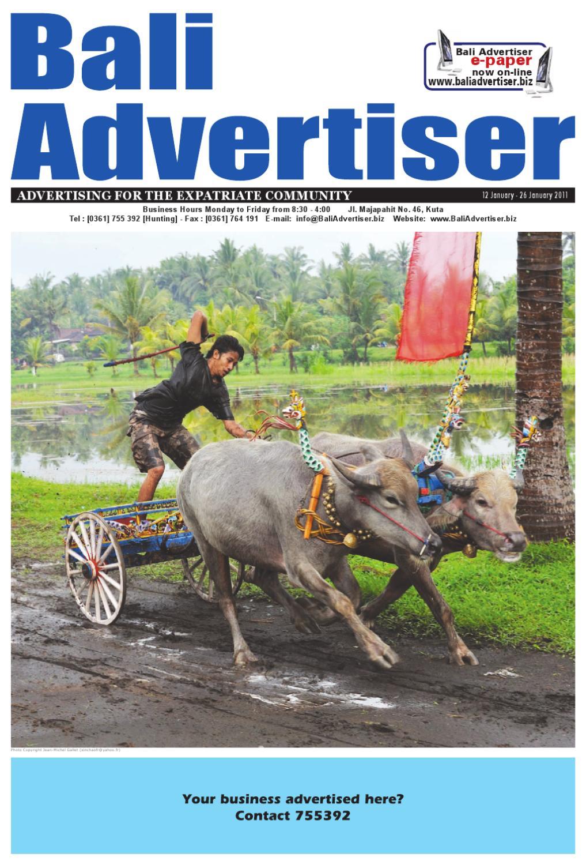 Ba 12 January 2011 By Bali Advertiser Issuu