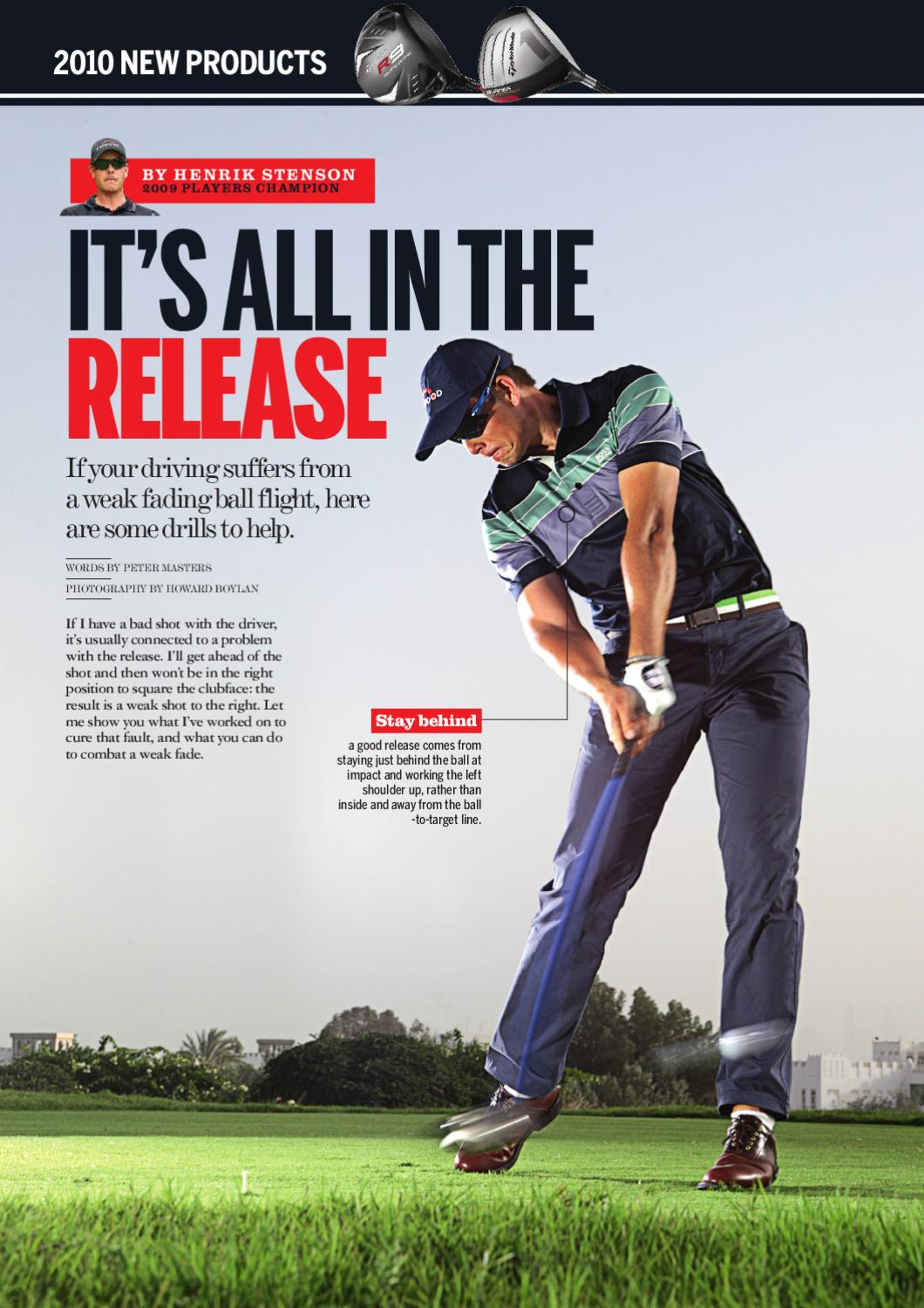 Tips Special It S All In The Release With Henrik Stenson By