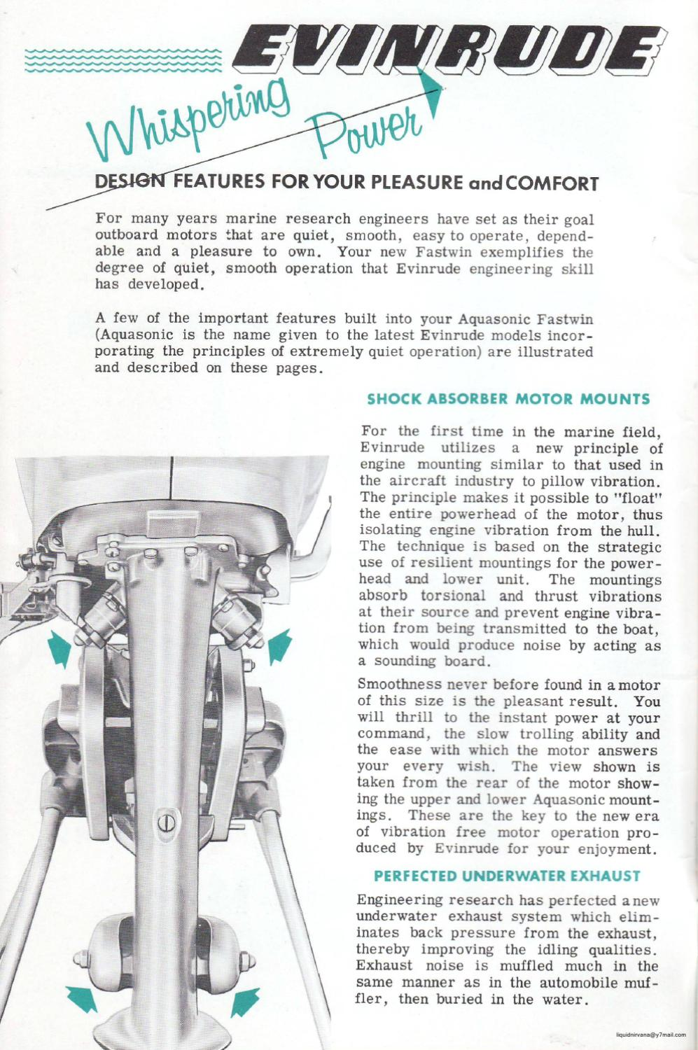 1955 - EVINRUDE 15hp Outboard Motor 'Fastwin' Owners Manual by Liquid  Nirvana - issuu
