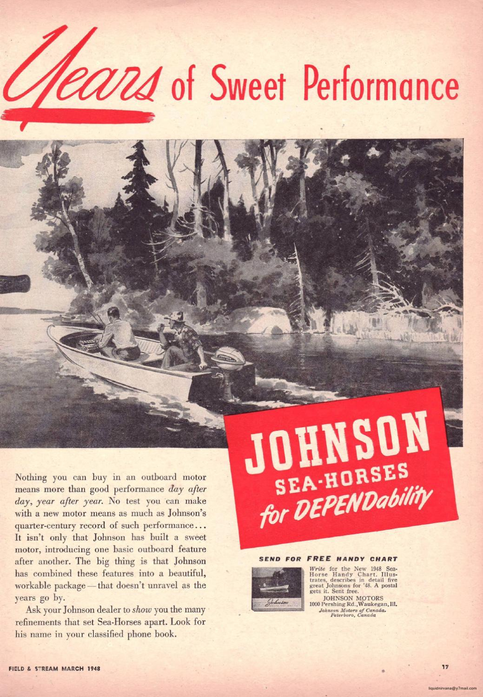 1948 - JOHNSON Outboard Motor Advertising
