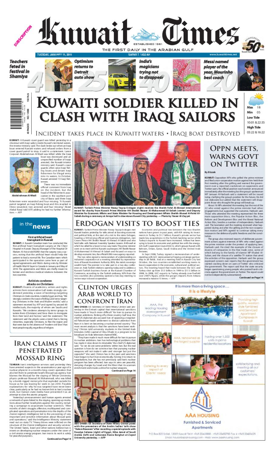 11 Jan by Kuwait Times - issuu