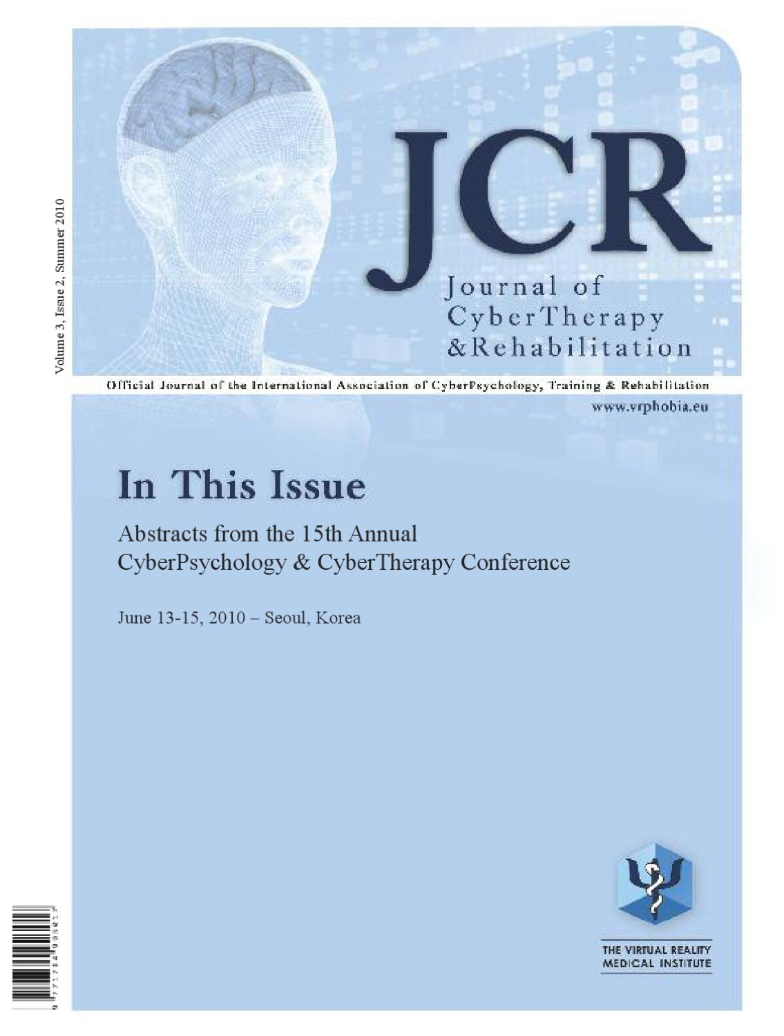 Journal of CyberTherapy and Rehabilitation cad223aad78bf