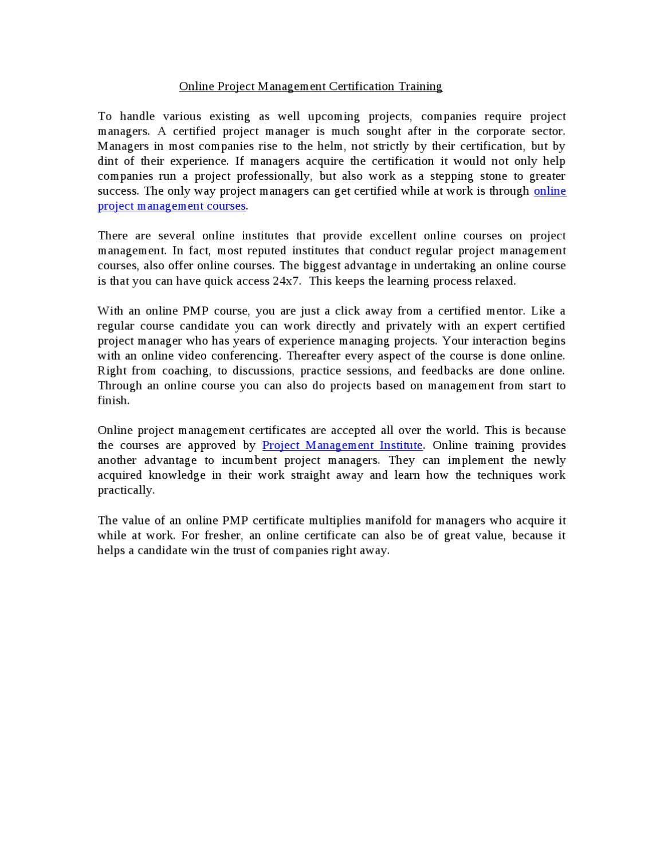 Online project management certification training by certschool online project management certification training by certschool pmptraining issuu xflitez Image collections