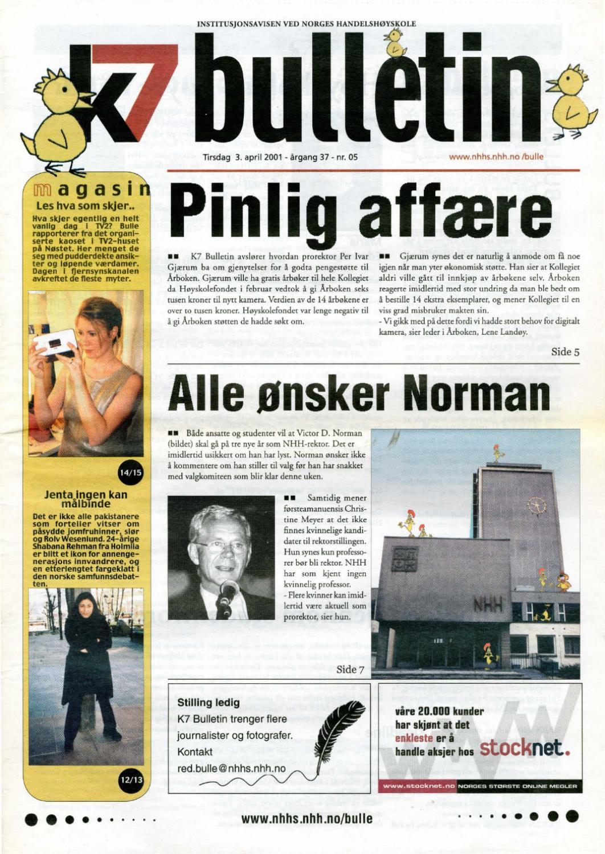 1d5afae1 K7 Bulletin nr 05 - 2001 by NHH Alumni - issuu