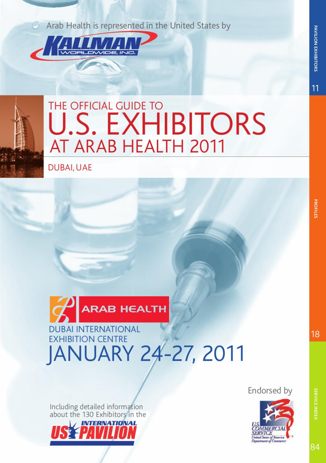 Guide to U.S. Exhibitors at Arab Health 2011 by Kallman