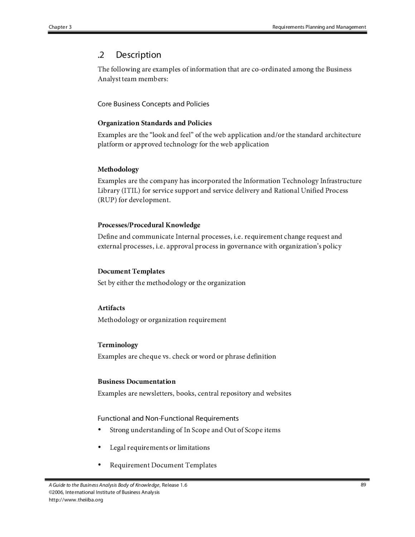 Business Analysis Body of Knowledge - BABOK by Tony Ciotti