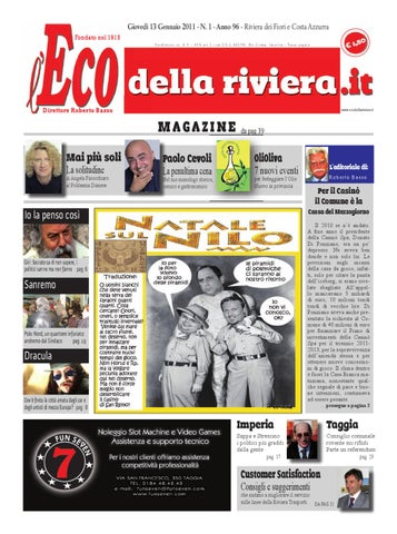 l\'Eco della Riviera n.01 Attualità by Zem s.a.s - issuu