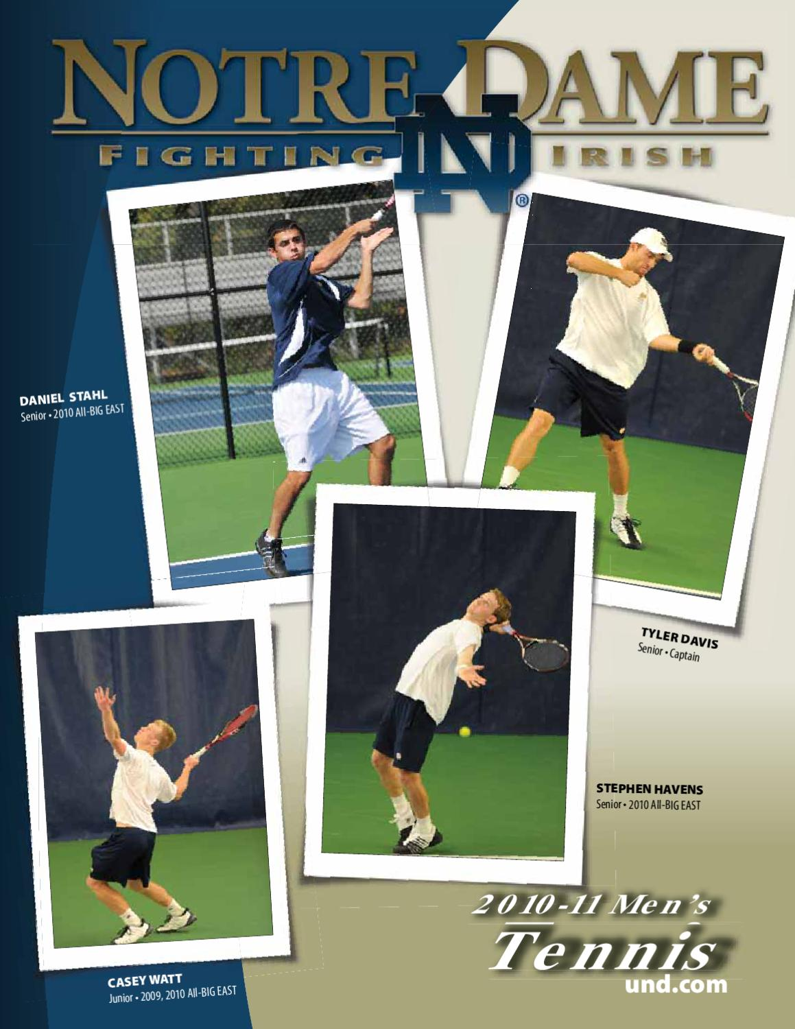 Tennis Guide Notre Issuu - Media 2010-11 Men's Dame Chris By Masters