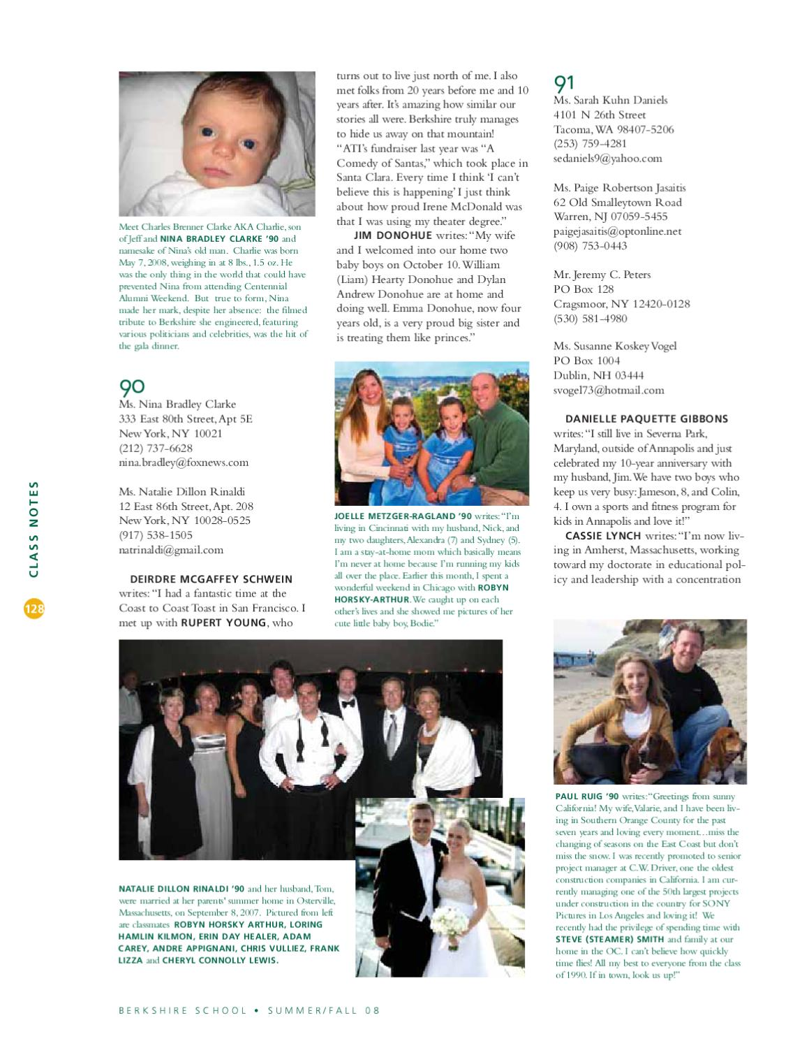 Berkshire Bulletin Fall 2008 by Berkshire School Alumni - issuu