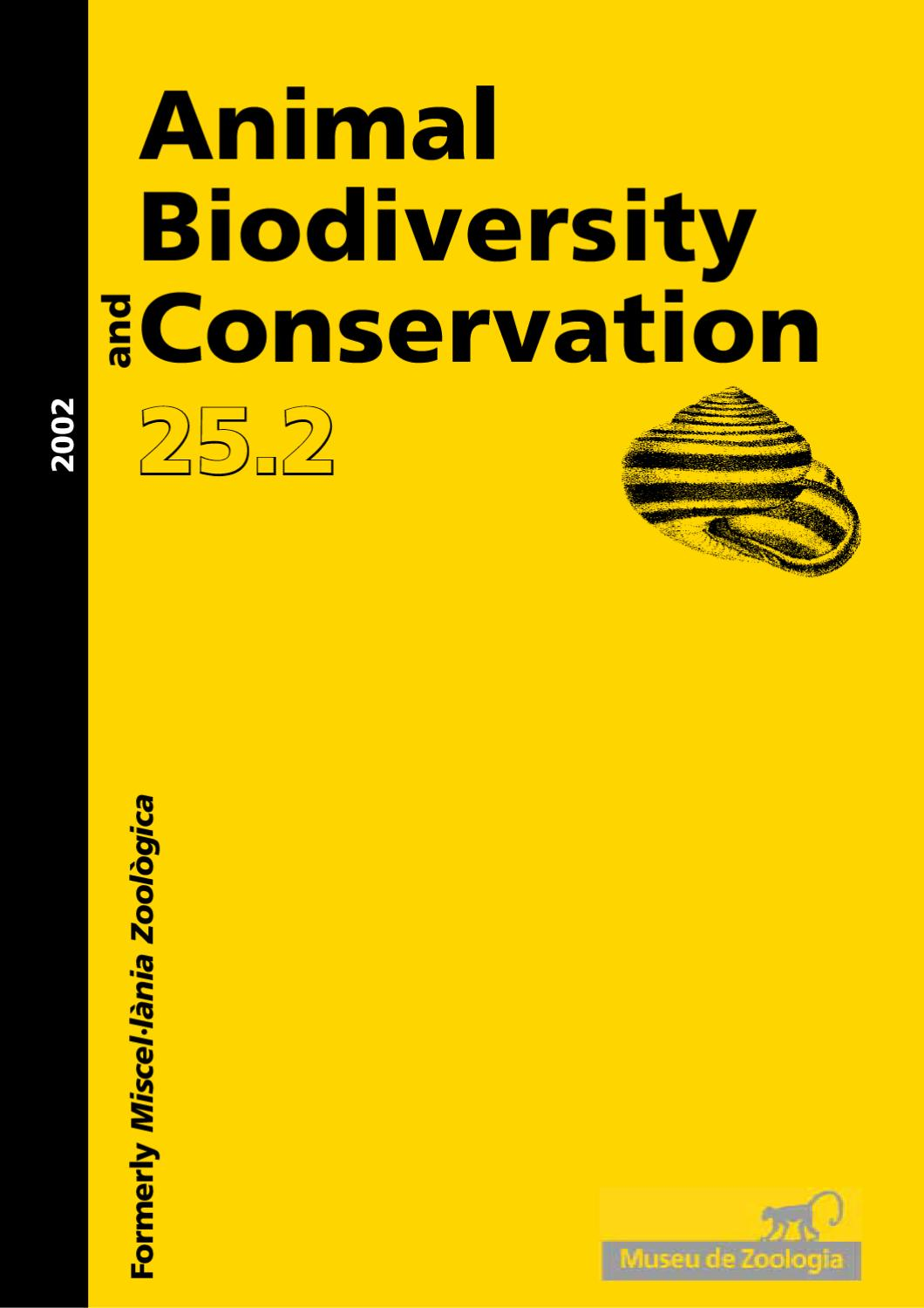 animal biodiversity and conservation issue 252 2002 by museu cincies naturals de barcelona mcnb issuu