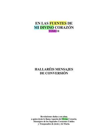 EN LAS FUENTES DE MI DIVINO CORAZON Tomo II by Jorge Rincon - issuu