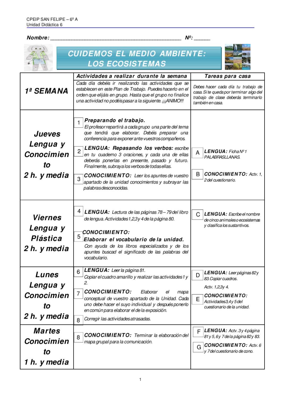 Plan de trabajo de los ecosistemas by Rafael Rodríguez - issuu