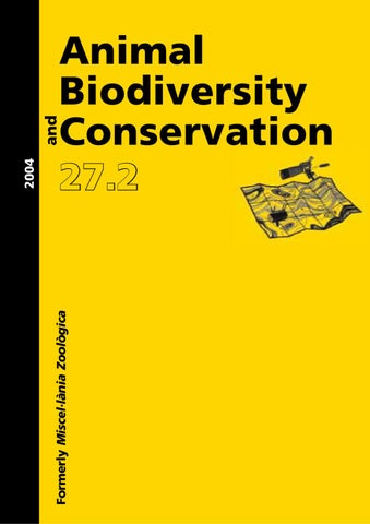 Animal Biodiversity and Conservation issue 27 2 (2004)