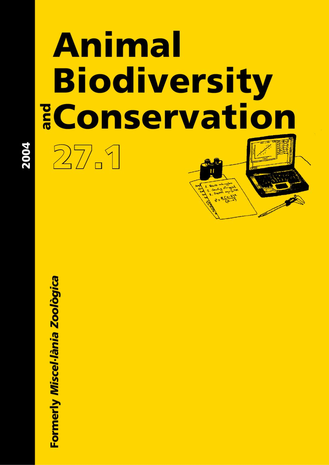 Animal Biodiversity and Conservation issue 27.1 (2) (2004) pp 297 ...