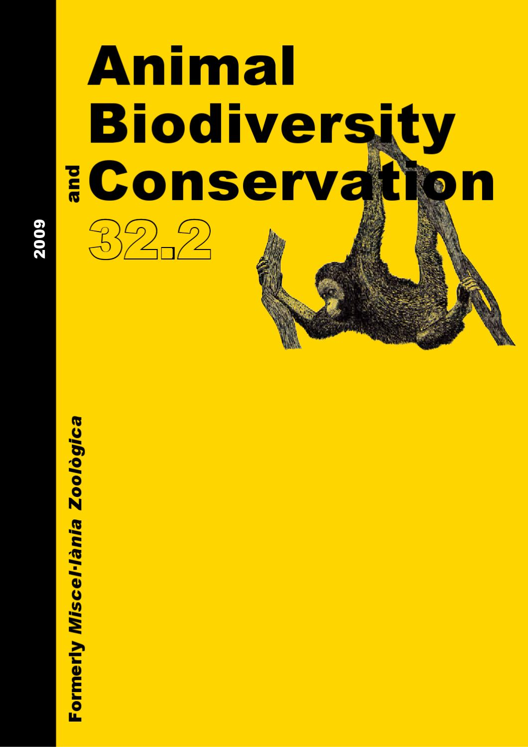 Animal Biodiversity and Conservation issue 32.2 (2009) by Museu ...