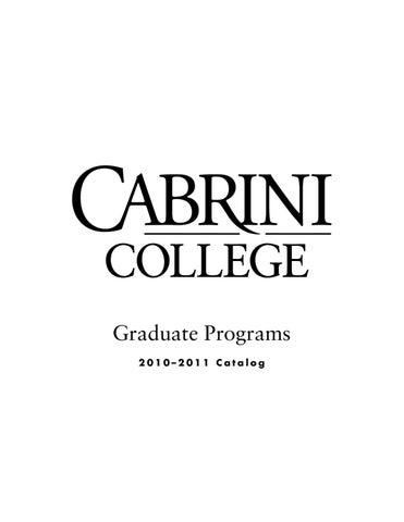 Cabrini College Campus Map.Cabrini College Graduate Catalog By Cabrini University Issuu