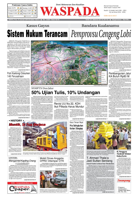 Waspada Sabtu 15 Januari 2011 By Harian Issuu Produk Ukm Bumn Tas Ransel Threepoint