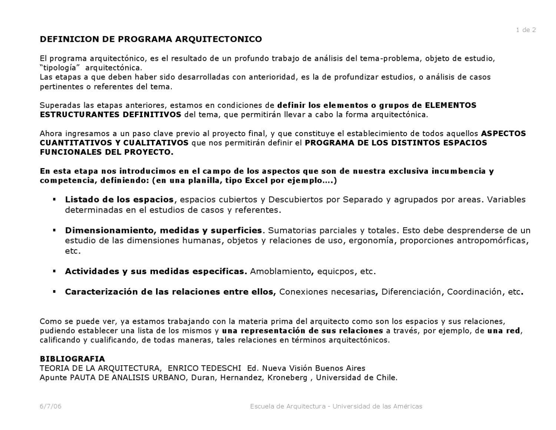 Definici n del programa arquitect nico by leila villarreal for Programa de necesidades arquitectura