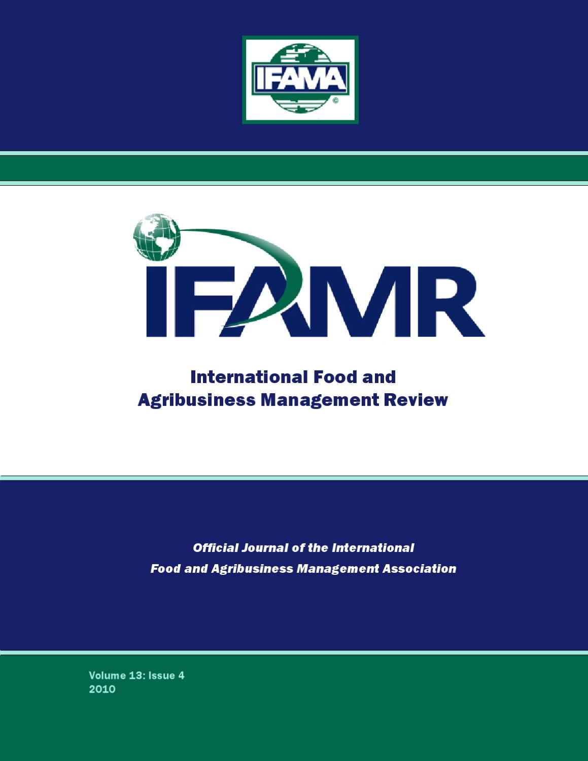 Volume 13 Issue 4 by IFAMA - issuu