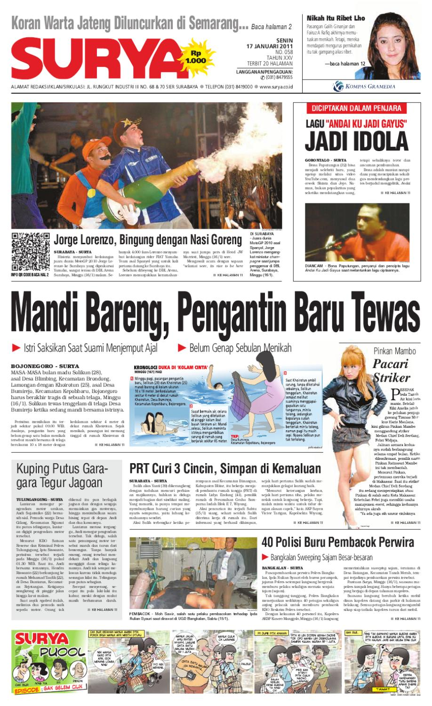 Surya Edisi Cetak 17 Januari 2011 By Harian Issuu Produk Ukm Bumn Boetik Art Khimar Tumpuk Tiga