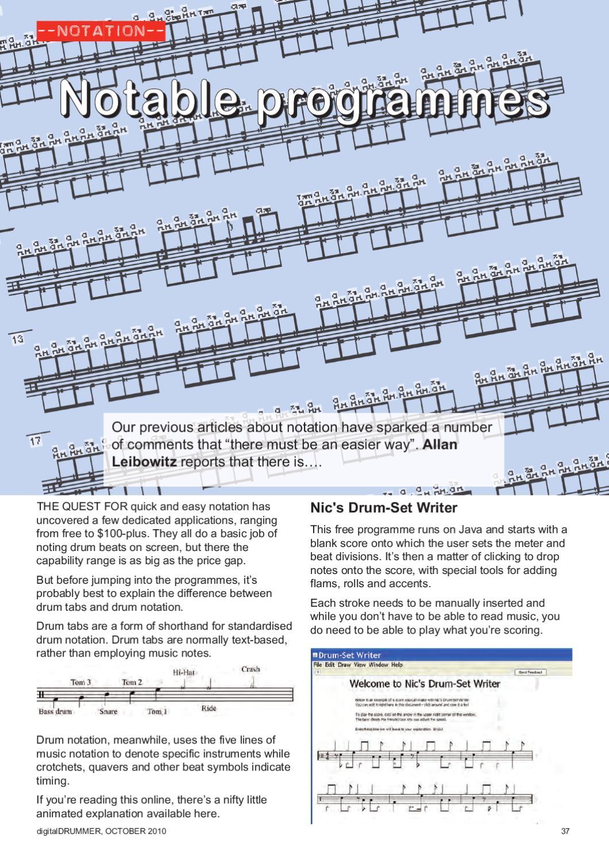 digitalDrummer October 2010 by Allan Leibowitz - issuu