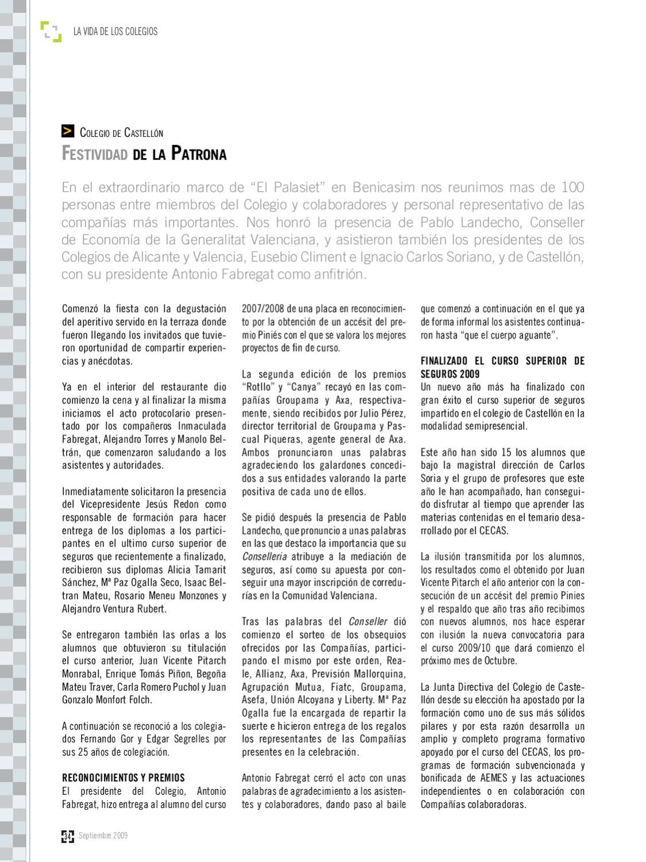 Revista Aseguradores 407 By Consejo General De Los Colegios