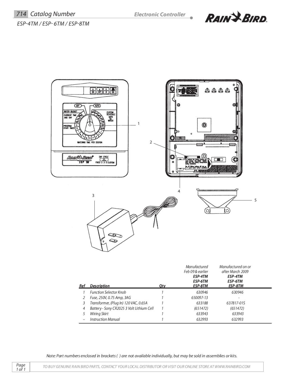 65c608 Rain Bird Esp Rzx Wiring Diagram Wiring Resources