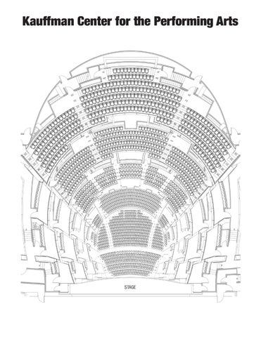Kauffman center for the performing arts seating chart by theater