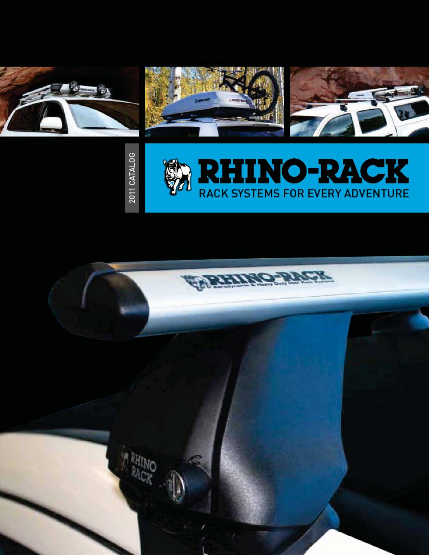 "Rhino Rack Y05-460 Black 2 Bar 44/"" Roof Rack System for Cap//Topper"