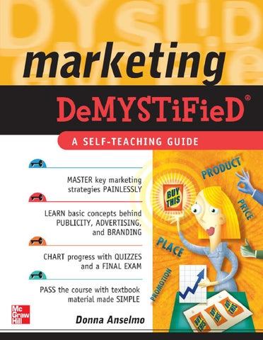 Marketing demystified by joseph katsitadze issuu marketing demystified a self teaching guide fandeluxe Choice Image