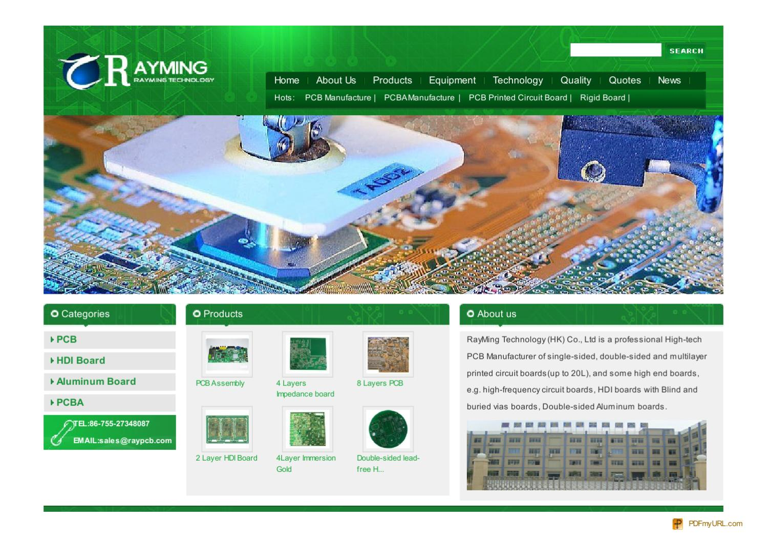 Rayming Pcb Manufacture China Manufacturers Double Sided 2layer Printed Circuit Boards Fabrication Of Suppliers By Jack Lei Issuu