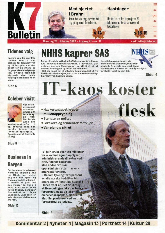 2b8e27e7 K7 Bulletin nr 11 - 2002 by NHH Alumni - issuu